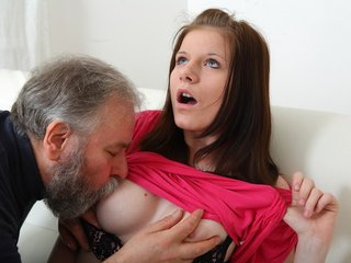Maria lets an old guy fuck her and..