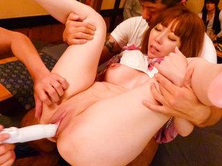 Minami Kitagawa's tight pinkish pussy..