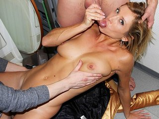 Insatiable youthful bare girl works 2..